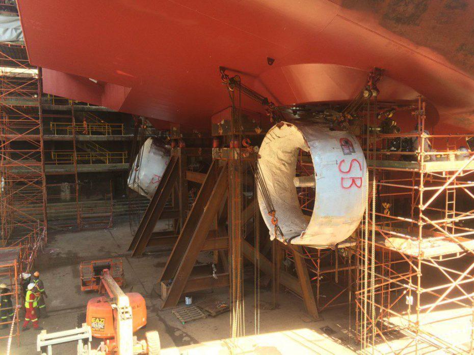 Saipem Eni FDS2 - Telescopic Docking Blocks - 4000t capacity